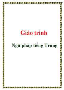 Giáo trình ngữ pháp tiếng Trung