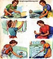 Từ vựng tiếng trung chủ đề việc nhà
