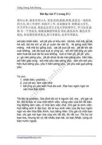Dịch bài đọc hiểu giáo trình Hán ngữ 2( phiên bản cũ)