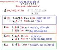 Học tiếng trung với chữ đa âm