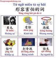 Từ vựng tiếng Trung miêu tả sợ hãi