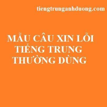 Mẫu câu xin lỗi thường dùng trong khẩu ngữ giao tiếp tiếng Trung