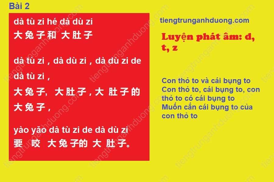 Bài luyện phát âm số 2