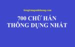700 từ vựng tiếng Trung thông dụng nhất