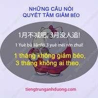 Học tiếng Trung chủ đề giảm béo