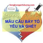 Học giao tiếp tiếng Trung qua mẫu câu bày tỏ yêu và ghét