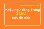 Khẩu ngữ tiếng Trung 3 chữ cực dễ nhớ