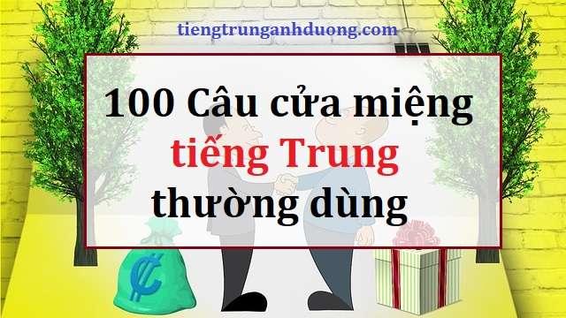 100 câu khẩu ngữ tiếng Trung cần nhớ