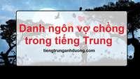 Danh ngôn vợ chồng trong tiếng Trung và tiếng Việt