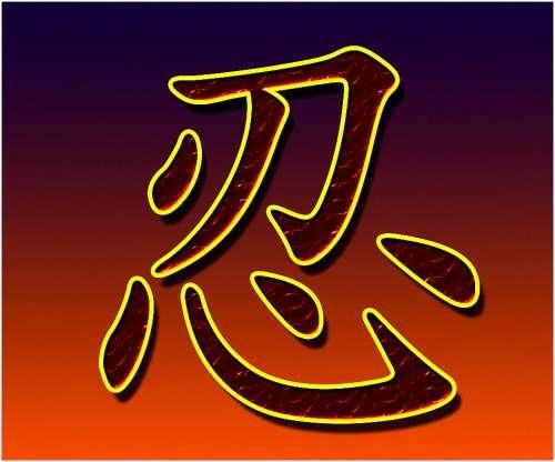 chữ nhẫn tiếng Trung 01