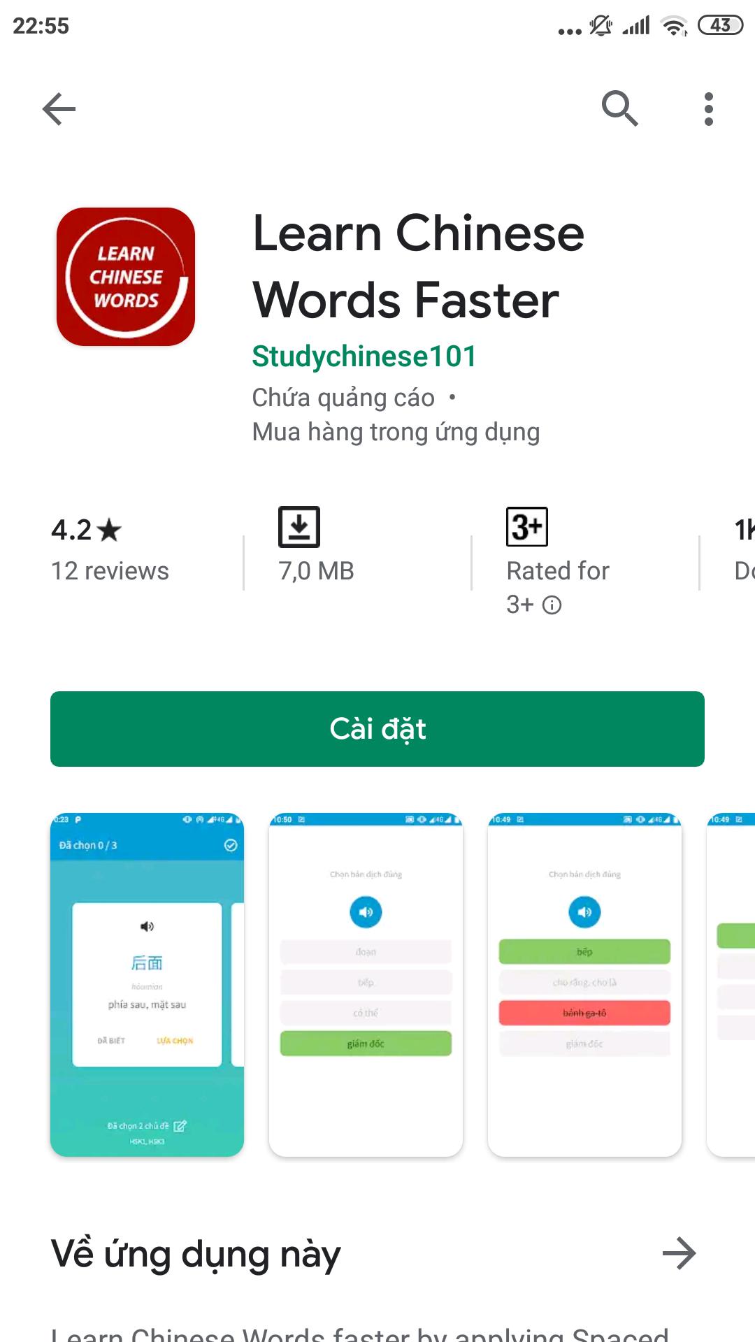 Học từ vựng tiếng Trung siêu tốc (1)