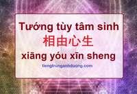 Tìm hiểu về câu nói tâm sinh tướng 相由心生 xiāng yóu xīn sheng