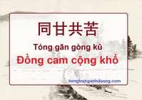 Tìm hiểu thành ngữ: Đồng cam cộng khổ 同甘共苦 Tóng gān gòng kǔ